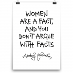 Poster - Women are a fact