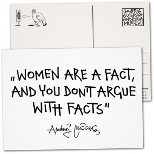 Postcard - Women are a fact