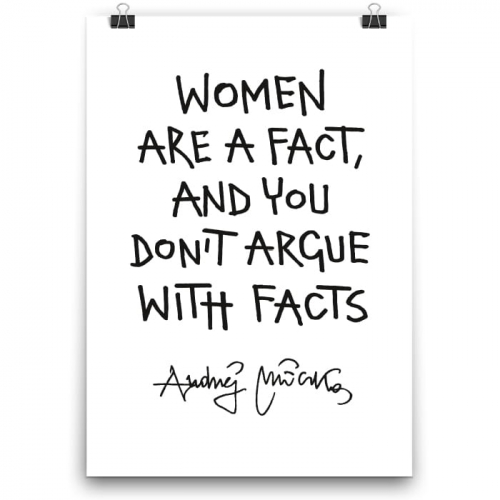 Poster - Women are fact